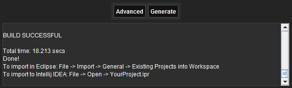 Project Creation Eclipse - LibGDX Project Generator - Game Development