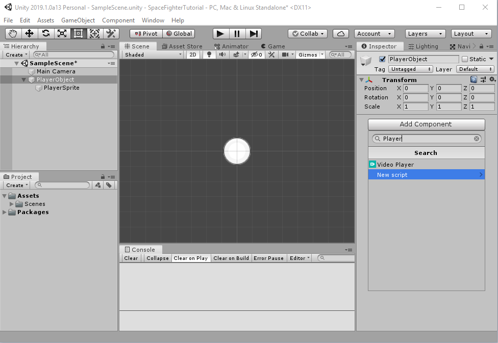 Full Unity 2D Game Tutorial 2019 – Player Movement