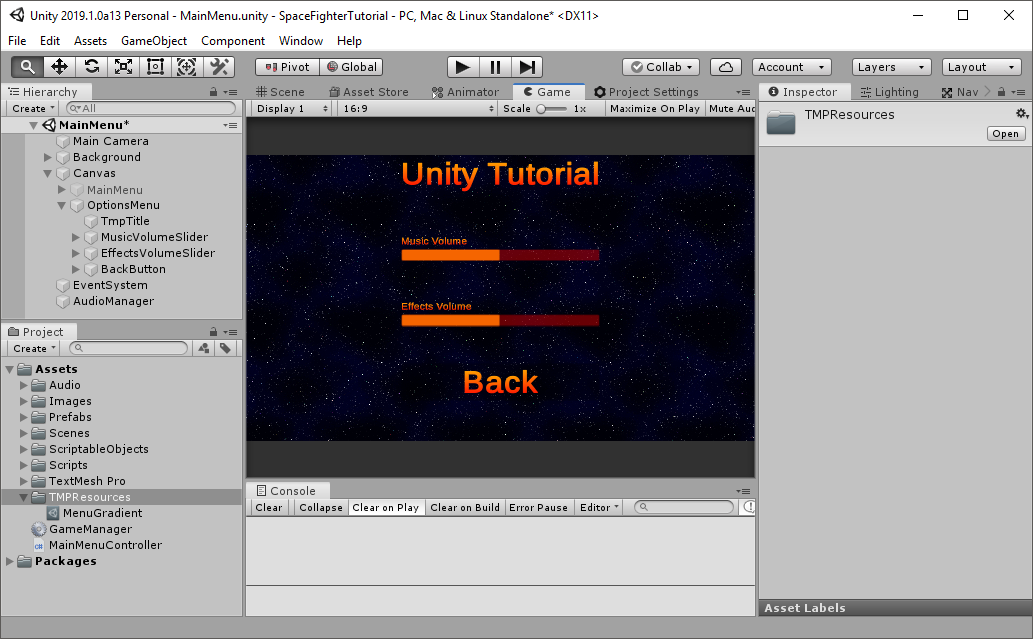 Full Unity 2D Game Tutorial 2019 – Preferences - Game Development
